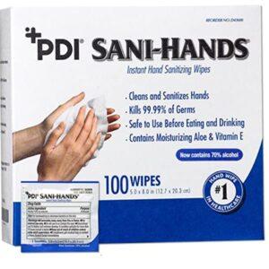 Sani-Hands 100 Wipes per Pack
